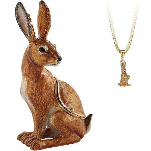 Hare Trinket Box and Necklace